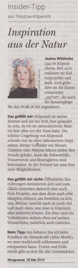 Janina Witthuhn, walk of art